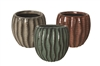 "5.4"" Wavy Stoneware, No Hole, 3 Colors (6/case)"