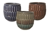 "6.2"" Lineage Stoneware, No Hole, 3 Colors (6/case)"