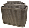 S/3 Large Deep Rectangular Metal Ribbed Planters
