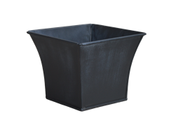 Single Bell Mouth Square Zinc Pot Cover - Lead