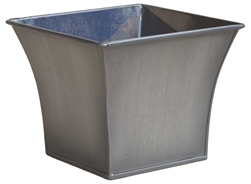 Single Bell Mouth Square Zinc Pot Cover - Gray Titan