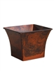 Single Bell Mouth Square Zinc Pot Cover - Lt Wood Copper