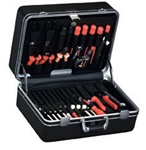 920TC-CB DELUXE POLYETHYLENE TOOL CASE WITH CHROME HARDWARE