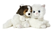 "Miyoni Angora Cat & Beagle Puppy 10""L"