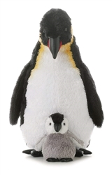 "Emperor Penguin with Baby 12"" H"