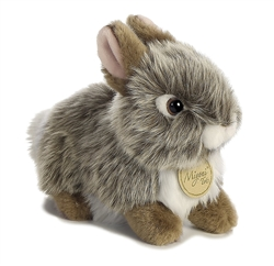 "Baby Bunny Grey Miyoni Tots Collection7"" L"