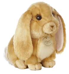 "Aurora Lop Eared Rabbit Tan Miyoni Collection 8"" Long"