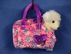 White Poodle Fancy Pal Pet Carrier