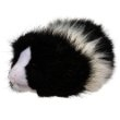 "Angora the Black and White Guinea Pig 8""l"