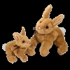 "Biscuit Golden Bunny Plush Toy 12"" Long"
