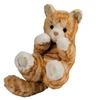 "Lou Lou Orange Stripe Cat Handful 8"" long without tail"