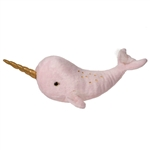 "Misty Light Pink/Gold Narwhal 15.5"" L"