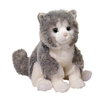 "Shadow Gray Cat 9.5"" H"