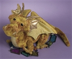 "Golden Topaz Dragon 7""h"