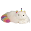 "Ziggy Caticorn Ranibow Fuzzle Cat Unicorn 14"" L"