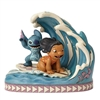 "Jim Shore Enesco Disney Traditions Catch the Wave 7"" H"