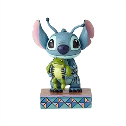 Jim Shore Enesco Disney Traditions Stitch Holding Frog