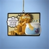 Garfield with Fish Tank Resin Ornament