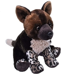 "African Wild Dog Pup Cuddlekins Plush Toy 10"" High"