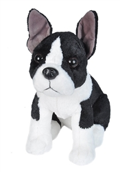 "Boston Terrier Sitting Cuddlekins 10""H"