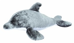"Dolphin Cuddlekin Plush 20"" Long"