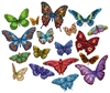 Butterflies 18 Shaped Puzzles  500 Piece Total by Lafayette Puzzle Company