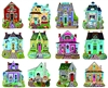 Cottages 12  Mini Shaped Puzzles  500 Piece Total by Lafayette Puzzle Company