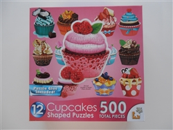 Cupcakes II,  12  Mini Shaped Puzzles  500 Piece Total by Lafayette Puzzle Company
