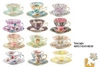 Teacups 12 Mini Shaped Puzzles  500 Piece Total by Lafayette Puzzle Company
