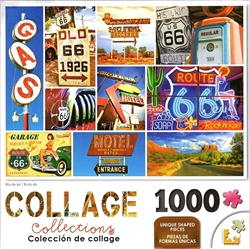 Collage Route 66 1000 Piece Puzzle