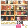 Rows of Colorful Cowboy Boots 500 Piece Puzzle