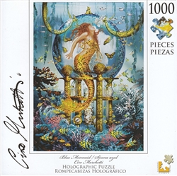 Blue Mermaid Special Effect Holographic 1000 Piece Puzzle