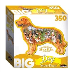 Big Dog Shaped 350 Piece Puzzle
