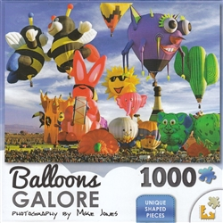 Balloons Galore Funky Shapes 1000 Piece  Jigsaw Puzzle by Lafayette Puzzle Factory