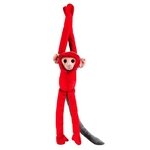 "Red Titi Monkey Plush Toy 17.5"" H"