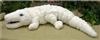 "White Alligator Plush Toy 36"" L"