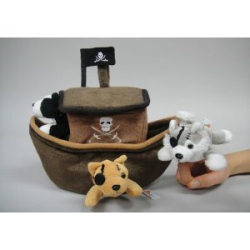 Pirate Ship Finger Puppet Set
