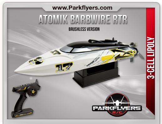 Atomik Barbwire Brushless RTR RC Boat