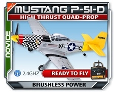 Mustang P51-D Large Scale EPO Version RTF RC Plane
