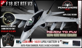 F-18 V3 Electric RC Jet RTF