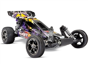 Bandit VXL: 1/10 Scale Off-Road Buggy. Ready-to-Race® with TQi Traxxas Link