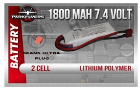 2 Cell 7.4 volt 1800 Mah Lipoly Battery