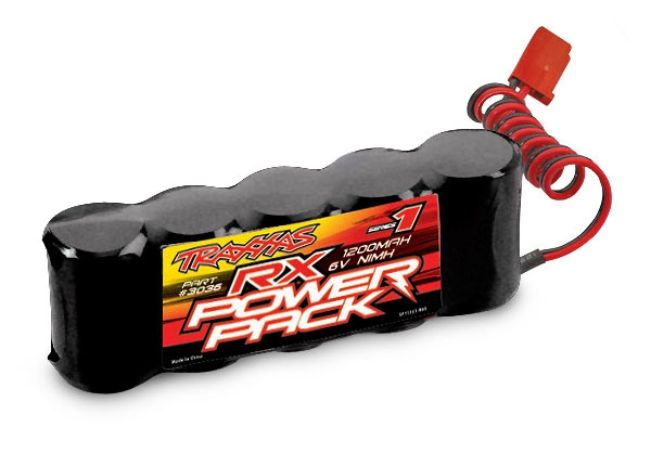 3036 - Battery, RX Power Pack (5-cell flat style, NiMH, 1200mAh)
