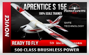Apprentice S 15e RC Electric Airplane with Safe Technology