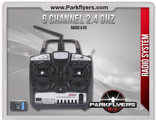 Parkflyers 6 Channel 2.4 Ghz 4Ch Radio and Rx