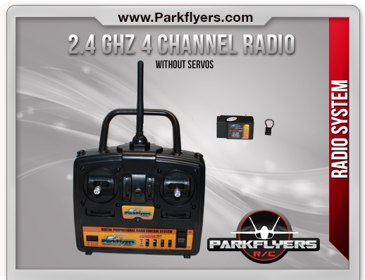 Parkflyers 2.4 Ghz 4Ch Radio System without servos