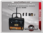 Parkflyers 2.4 Ghz 4Ch Radio System with (2) AS-100 servos