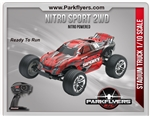 Traxxas 1/10 Nitro Sport SE 2.4 RTR w/2 Amp iD Charger