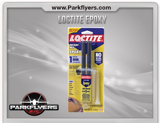 Loctite 1 Minute Epoxy Glue for repair of broken foam and plastic parts