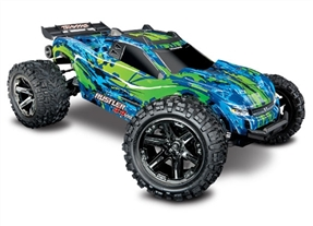67076-4 - Rustler 4X4 VXL: 1/10 Scale Stadium Truck. Ready-to-Race® with TQi Traxxas Link™ Enabled 2.4GHz Radio System, Velineon® VXL-3s brushless ESC (fwd/rev), and Traxxas Stability Management (TSM)